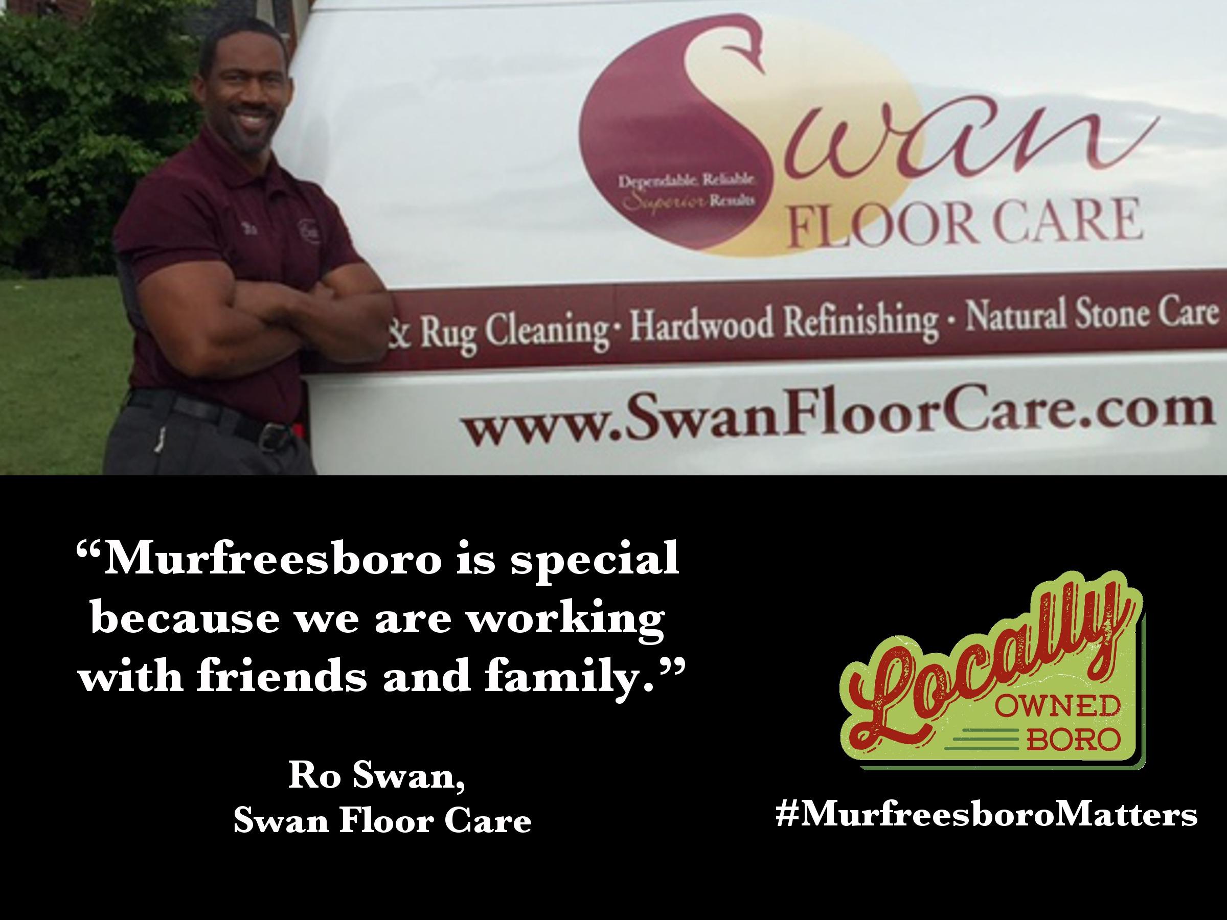 Ro Swan, owner of Swan Floor Care