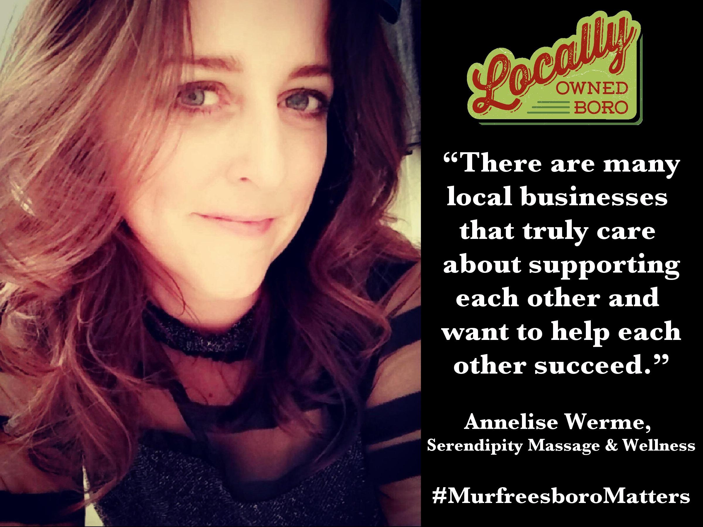 Annelise Werme, owner/operator of Serendipity Massage & Wellness