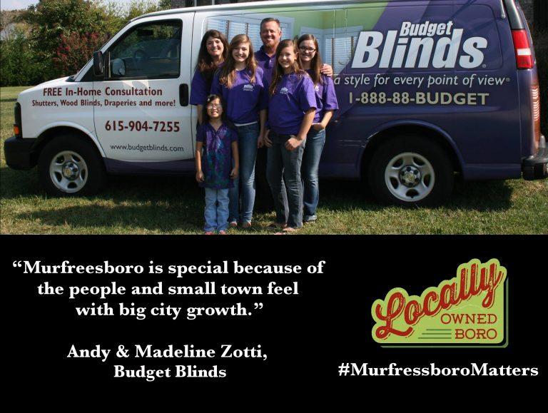 Member Spotlight: Budget Blinds of Murfreesboro
