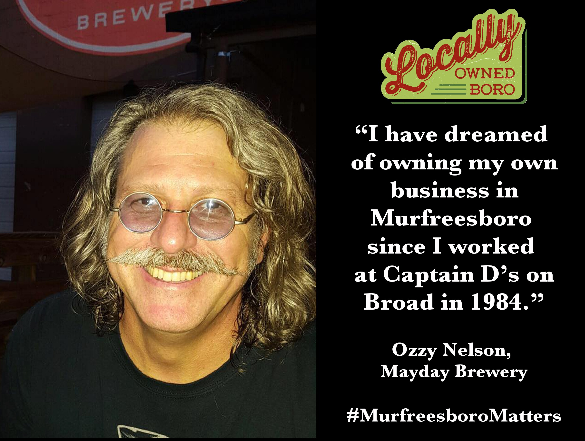 Ozzy Nelson, founder of Mayday Brewery