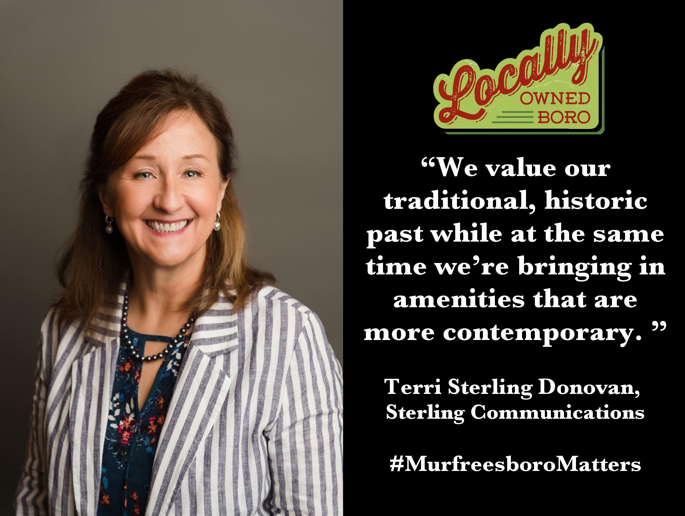 Terri Sterling, principal at Sterling Communications